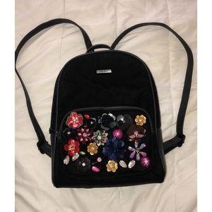ALDO velvet backpack